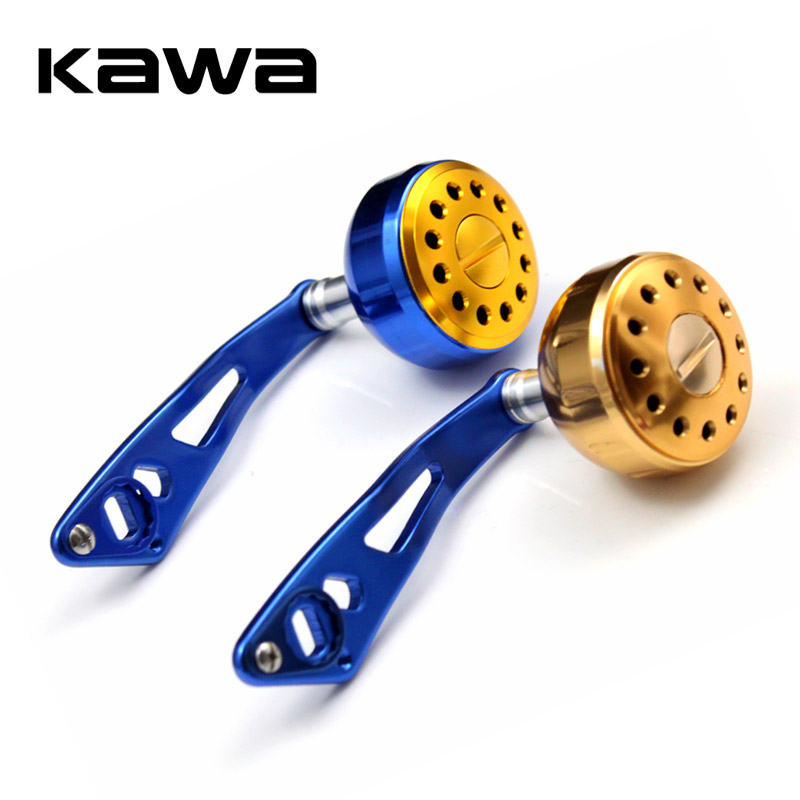 KAWA Aluminium Handvat met Knop Visserij-reel Handvat Voor ABU DAIWA Baitcasting Visserij-reel Tackle Gereedschap Links Rechterhand