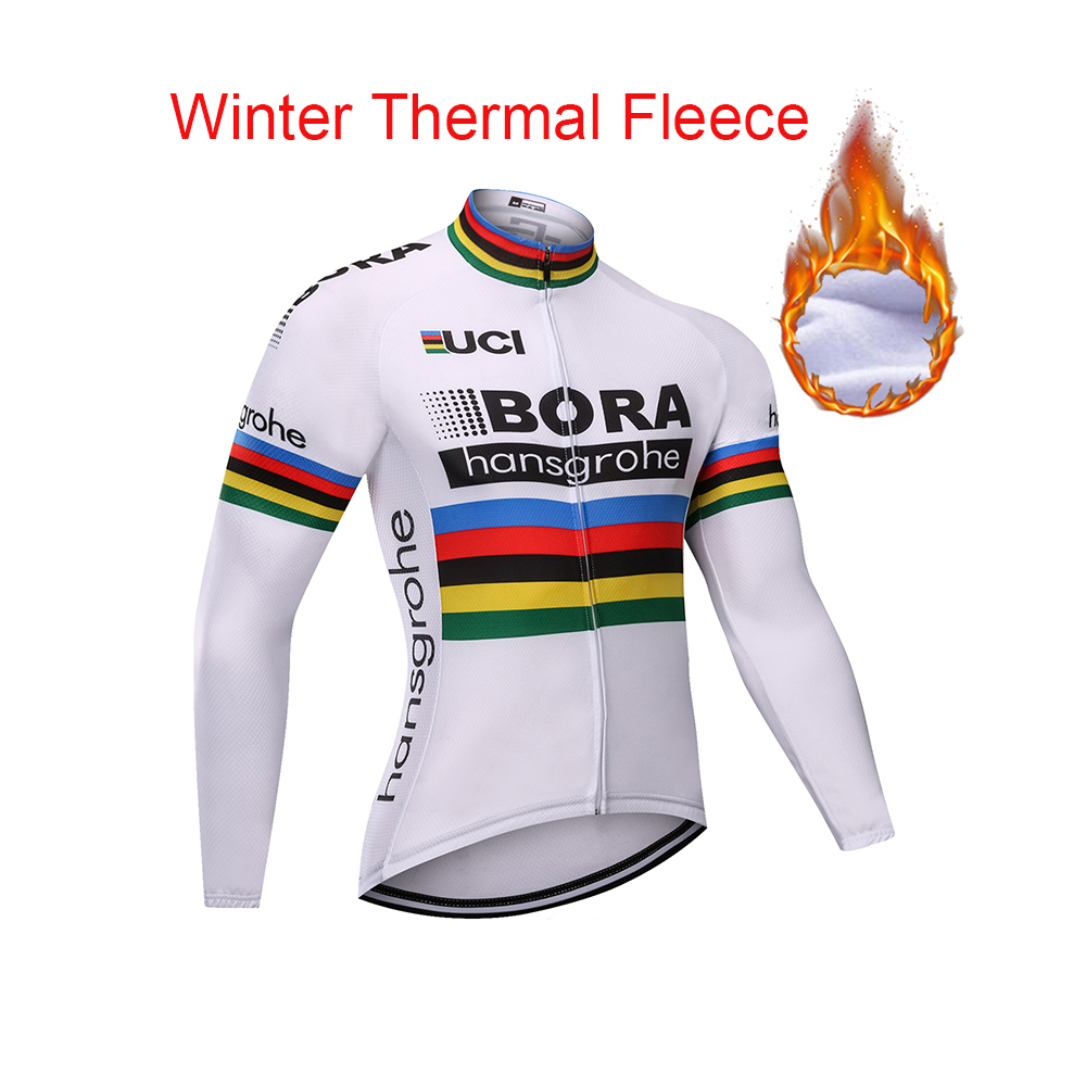 Thermal Fleece BORA Cycling Jerseys Autumn Winter Warm 2018 Pro Mtb Long Sleeve Men Bike Wear Spring Cycling Clothing цена