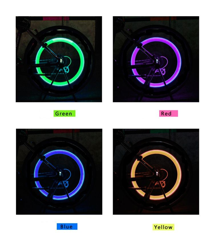 New 03 Free shipping Bike Car Motorcycle Cycling Tyre Valve Cap Wheel  Lights (1)