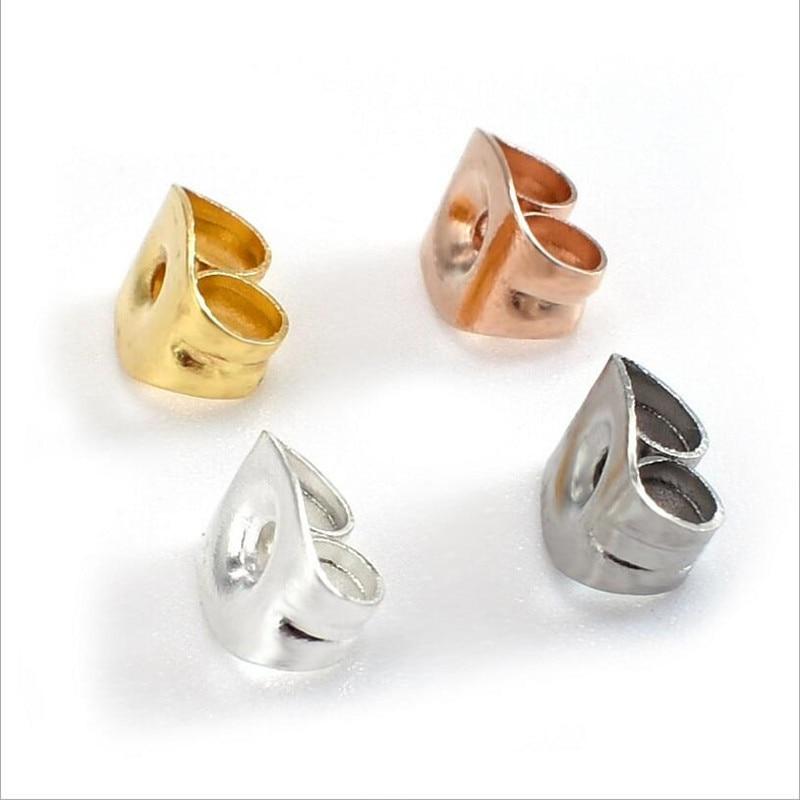 100pcs 4.5*6mm Stainless Steel Earring Stoppers Back Plug Earring Settings Base Ear Studs Back Earring Stopper DIY Jewelry Z961100pcs 4.5*6mm Stainless Steel Earring Stoppers Back Plug Earring Settings Base Ear Studs Back Earring Stopper DIY Jewelry Z961