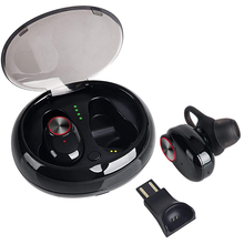 V5 TWS Bluetooth Headset Noise Cancelling Stereo True Wireless Earbuds Comfortable Wearing Mini Earphone with MIC Charger Box meidong he3 tws bluetooth earphone true wireless earbuds with charger box built in mic aptx stereo sports mini bluetooth headset