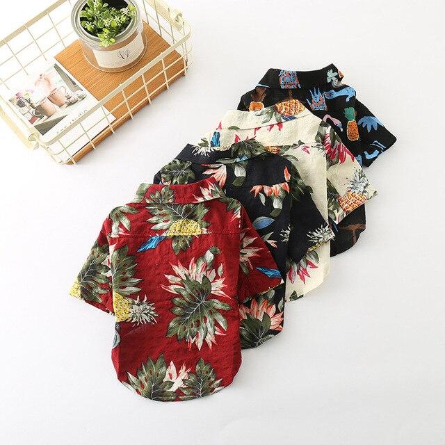ab7afc65 Free shipping dog clothes pet shirt summer fashion pineapple Hawaii beach  style ropa perro mascotas roupa cachorro
