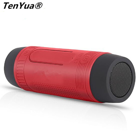 TenYua Bluetooth Speaker Outdoor Bicycle Portable Subwoofer Bass wireless Speakers Power Bank+LED light +Microphone+FM Radio Karachi