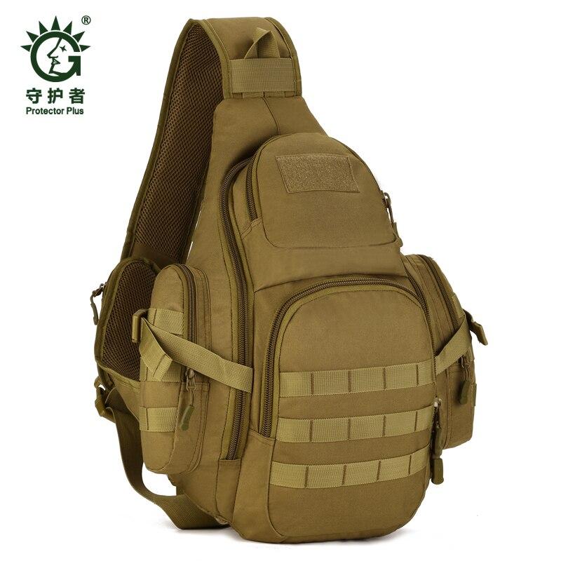 Tactique poitrine sacs à dos Molle sac à dos en Nylon épaule imperméable ordinateur Pack extérieur Camping voyage randonnée Trekking sac d'école