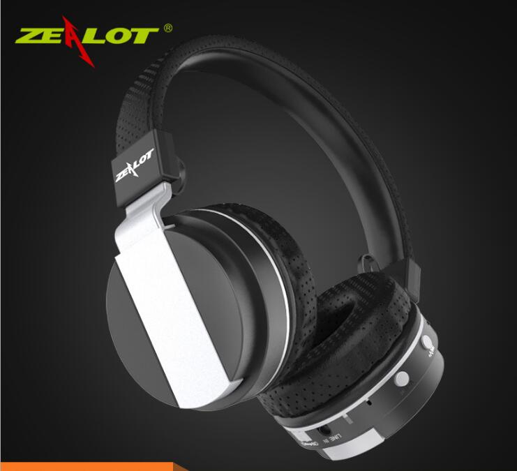 ZEALOT B17 Bluetooth Noise Cancelling Headphone Super Bass Wireless Stereo Headset With Mic Earphone FM Radio TF Card Slot in Bluetooth Earphones Headphones from Consumer Electronics