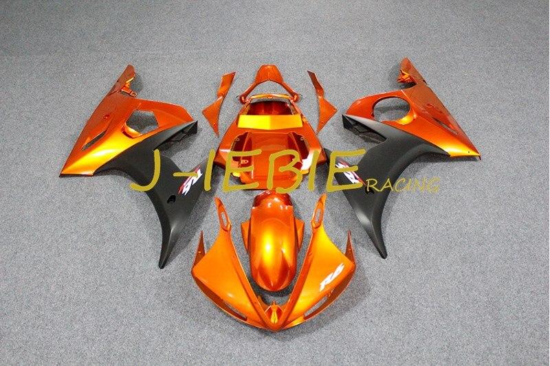 Orange black Injection Fairing Body Work Frame Kit for Yamaha YZF R6 2003 2004