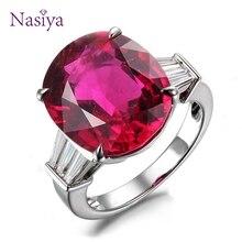 все цены на Prong Setting Oval Red Spinel Rings For Women Luxury 925 Sterling Silver Wedding Anniversary Gift Elegant Fine Jewelry онлайн