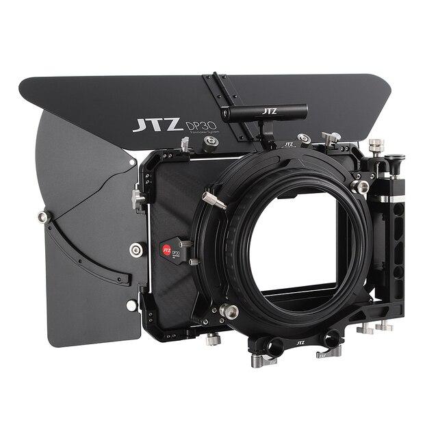 """JTZ DP30 Cine Carbon Fiber 4x5.65 """"Matte Box 15mm/19mm Voor Sony ARRI ROOD CANON A7 A7R A7RS A7RSIII GH4 GH5 GH6 A6500 FS7"""