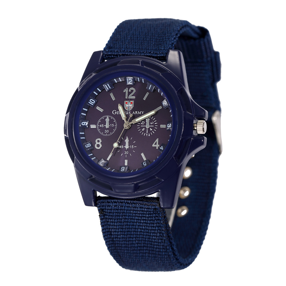 2019 Men's Nylon Band Sports Watch Gemius Army Clock Quartz Men Military Watch Casual Wristwatches relogio masculino erkek saat
