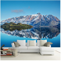 Wall Wallpaper 3d Wall Art Background Photography Natural Lakes Snow Capped Beauty Bedroom Mural Custom Painting