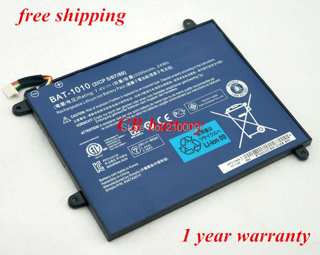 BAT-1010 Battery For  A500 Tablet PC BT.00207.001 BT0020700