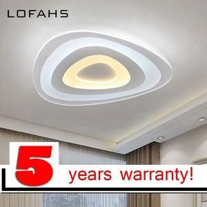 Image 2 - Triangle thin modern LED ceiling chandelier Creative arc triangle Plexiglass lamp home flush mount home lighting lumiere luz