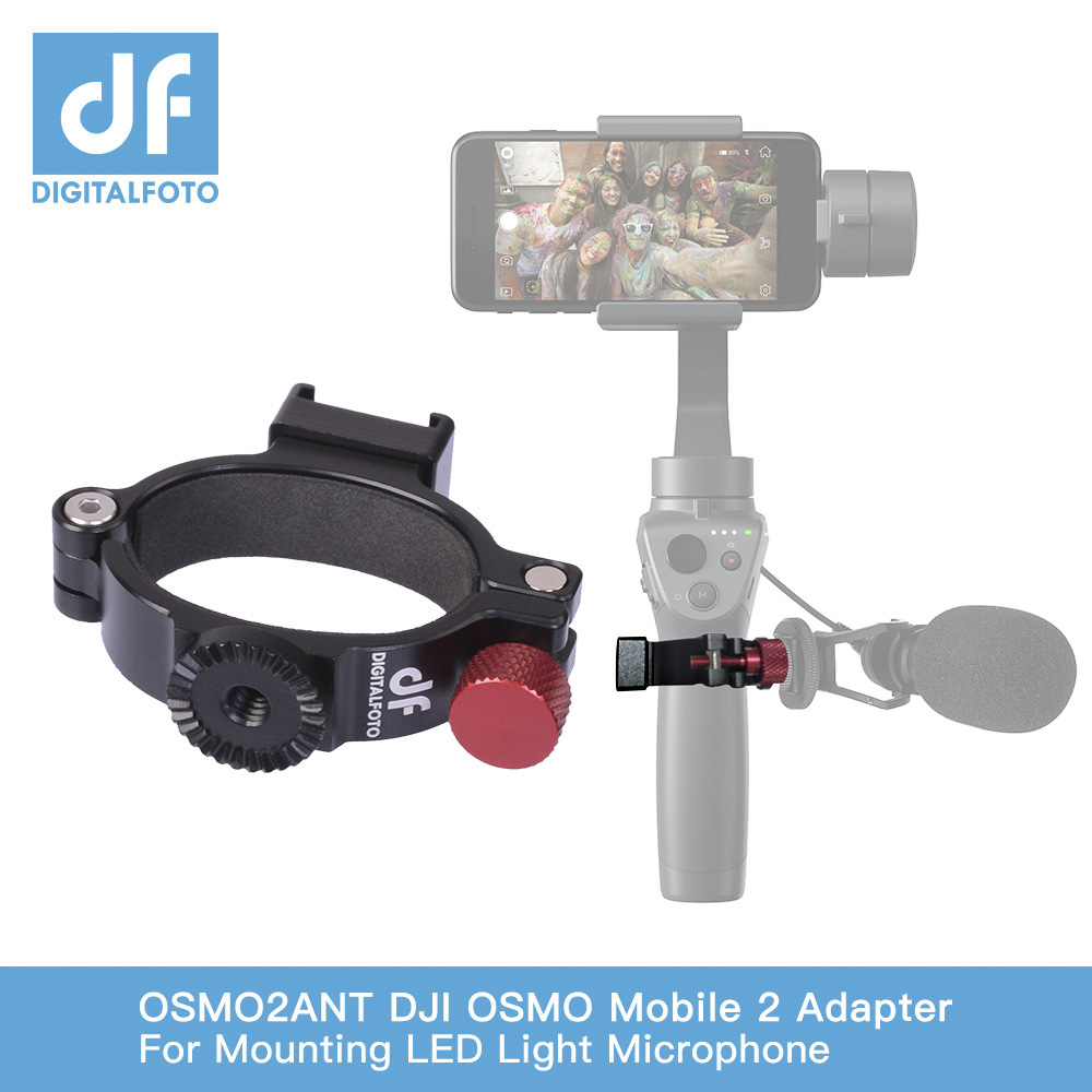 DF DIGITALFOTO Ant O-Ring Hot /Cold Shoe Adapter For DJI OSMO Mobile 2  Mobie 3 Gimbal Mounting Microphone/LED Light/Monitor