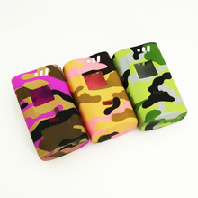 Colorful Camouflage color Sleeve Protective Cover Skin Silicone Case Silicon Cases for SMOK Alien Kit Alien 220 TC 220w Box Mod