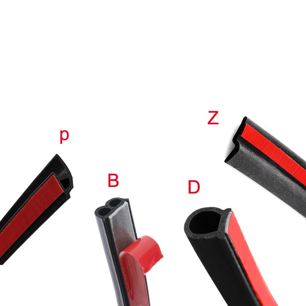 2 метра Автомобильная резиновая уплотнительная лента большая D маленькая D Z Форма P Тип B Автомобильная дверная уплотнительная уплотненная звукоизоляция для автомобиля Шпатлевки, клеи и герметики      АлиЭкспресс