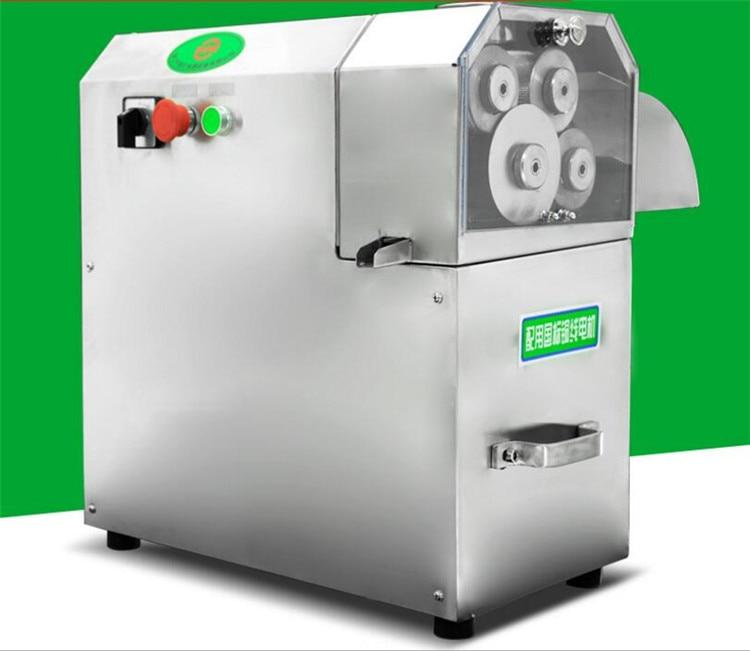 Grande sortie 3 rouleaux/4 rouleaux en option en acier inoxydable électrique canne à sucre presse agrumes machine canne à sucre presse agrumes de haute qualité - 2