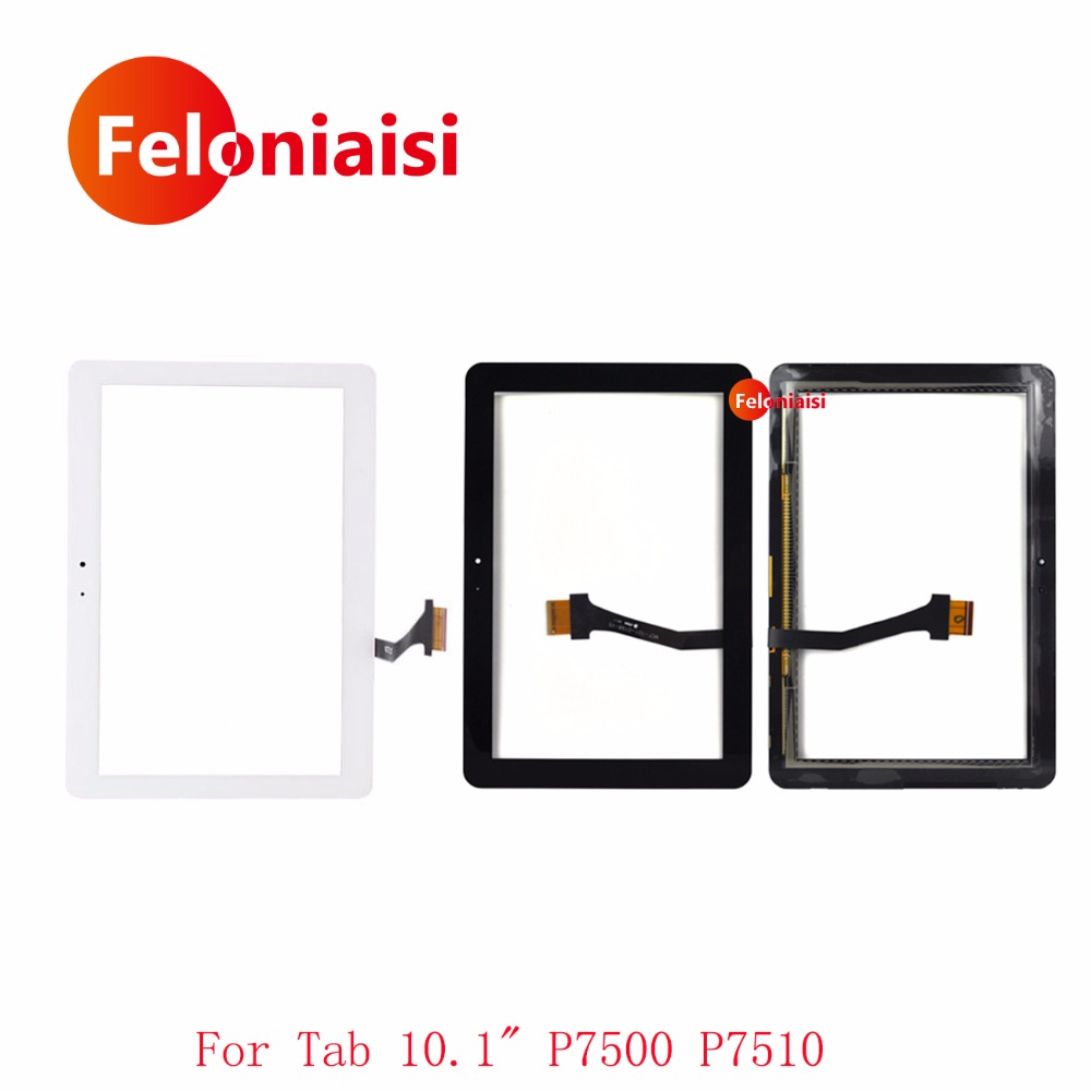 High Quality For Samsung Galaxy tab 10.1 P7510 P7500 Touch Screen With Digitizer Sensor Panel Front Glass Lens White or Black srjtek 8 for samsung galaxy note 8 0 n5110 touch screen with digitizer panel front glass lens black white