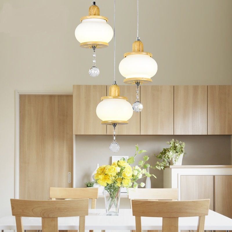 pendant lamp personality restaurantr American minimalist wooden original living room bedroom glass pendant lights LO72913 chinese style classical wooden sheepskin pendant light living room lights bedroom lamp restaurant lamp restaurant lights