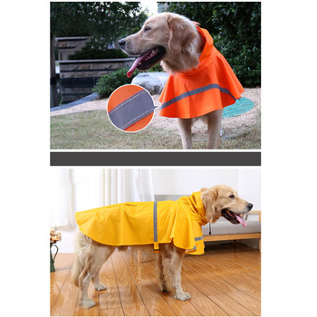 Pawstrip XS-3XL Large Dog Raincoat Waterproof Dog Clothes Labrador Husky Safety Reflective Dog Coat Puppy Dog Rain Clothing 2