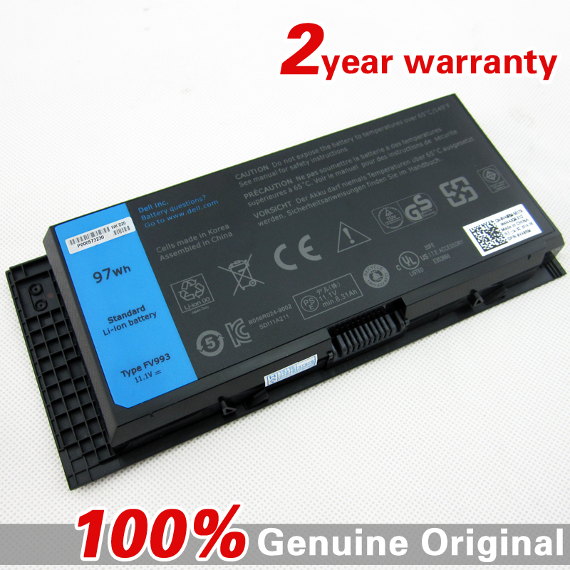 9cell 97WH New Original FV993 Laptop battery for DELL Precision M6700 M4700 M6600 M4600 PG6RC 97KRM R7PND KJ321 X57F1 9GP08 inverter pg x2 card pg new original