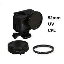 Gopro Hero 5 52mm UV/CPL filtre objectif + lens cap Gopro hero 5 Noir Accessoires