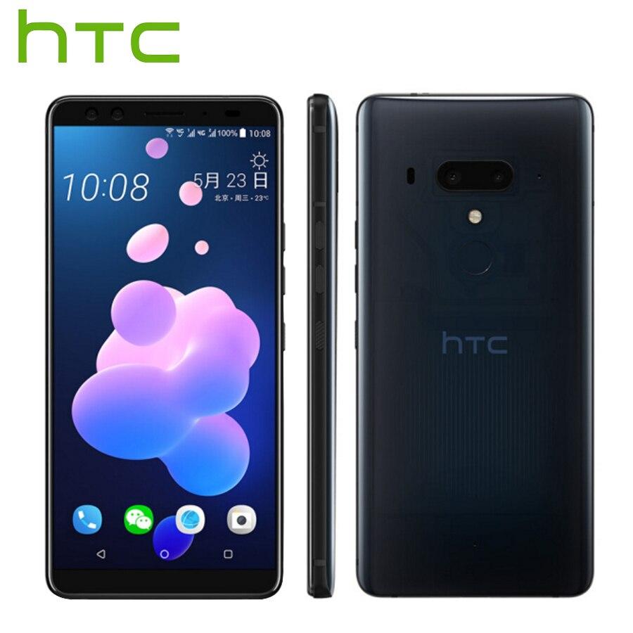 Nouvelle annonce HTC U12 Plus 4g LTE Mobile Téléphone 6 gb 128 gb Android 8.0 Snapdragon 845 Octa Core 6.0 pouce 2 k Écran IP68 Téléphone Intelligent