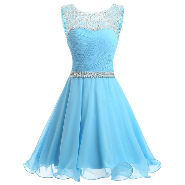 New Cheap Scoop Sexy Short Homecoming Dresses 2019 With Appliques Beading Prom Party Dresses Graduation Dress Heimkehr Kleid