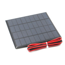 Polycrystalline Solar Panel 9V 2W + 100cm extend cable DIY Battery Charger Module Mini Solar Cell wire toy(China)