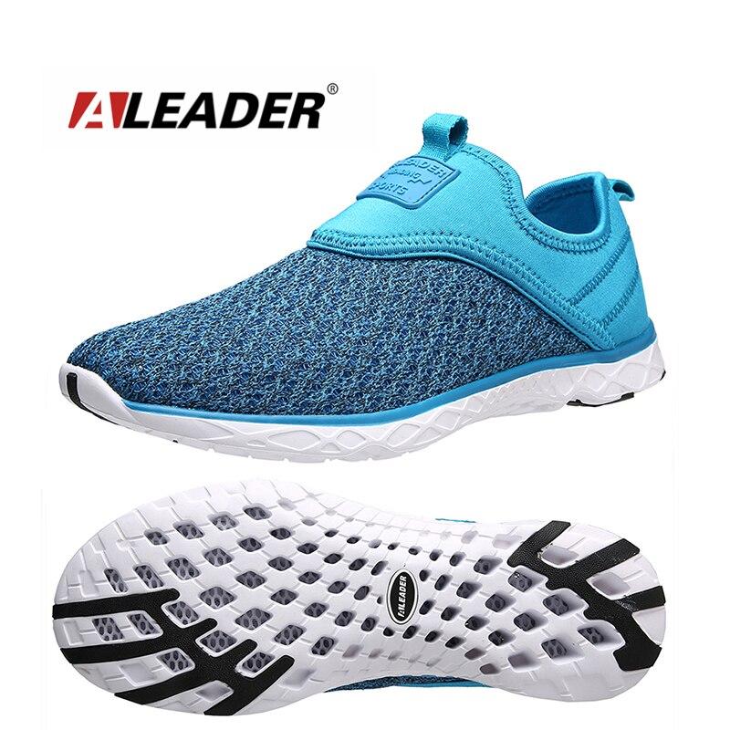 Aleader más el tamaño 36-47 mujeres de los zapatos corrientes de malla transpira