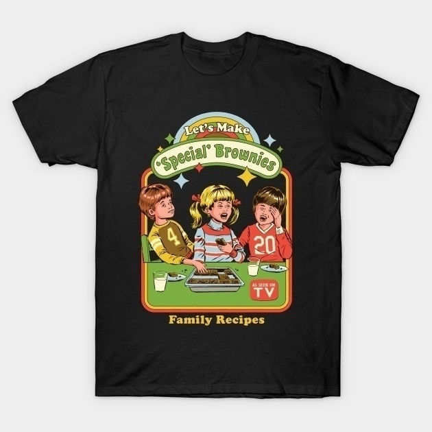 Kuakuayu YF Summer Unisex Cute Nostalgia Funny T-Shirt Let's Make Special Brownies Vintage 80s Fashion T-Shirt Hipsters