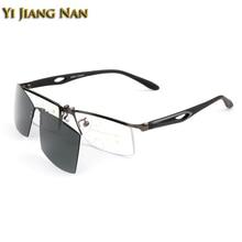 Yi Jiang Nan Marke Lesen Sonnenbrillen Sport Stype Optische Progressive Linsen mit Grau Plarized Clip Magnet Fahren Sonnenbrille