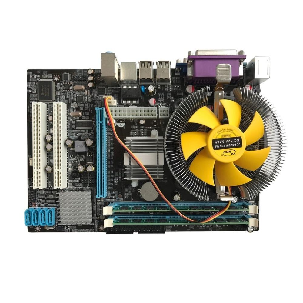 Motherboard CPU Set With Quad Core 2.66G CPU i5 Core + 4G Memory + Fan ATX Desktop Computer Mainboard Assemble Set g41 motherboard 3 0cpu fan 2g ram set dual core set motherboard set cpu775 100