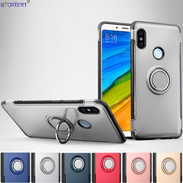 premium selection 3e7b8 8cc20 US $4.19 8% OFF|Bumper Case For Xiaomi Redmi Note 5 Finger Ring Holder Case  Xiomi Xaomi Red Mi Redmi Note5 Pro Stand Full Cover Phone Back Funda-in ...