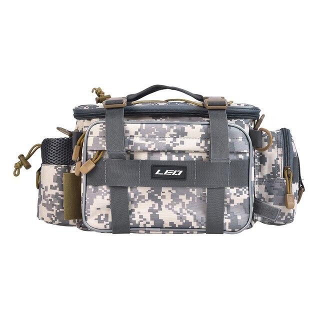 Cheap 40x17x20cm Camouflage Carp Fishing Bag Multifunctional Waterproof Outdoor Waist Shoulder Bag Case Reel Lure Camera Storage Bag