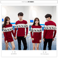 Couple Christmas Sweaters Fashion Winter Men's Women Long Sleeve Crewnecks Pullovers Elk Deer Pull Knitwears Jersey Mujer Hombre