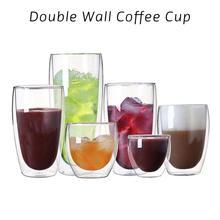 ФОТО new creative double wall glass coffee cup tea milk beer cup handmade heat-resistant drinkware  transparent mugs a30