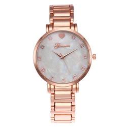 New Luxury Brand Quartz Women Watches Stainless Steel Wrist Watch Mother of Pearl Dial Watch Gold Geneva Watch Relogio Feminino