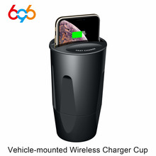 696X9 QI voiture chargeur rapide sans fil tasse pour iphone 8 X support de Charge support de Charge pour Apple XS MAX/XR/X/8 PLUS samsung note10/9
