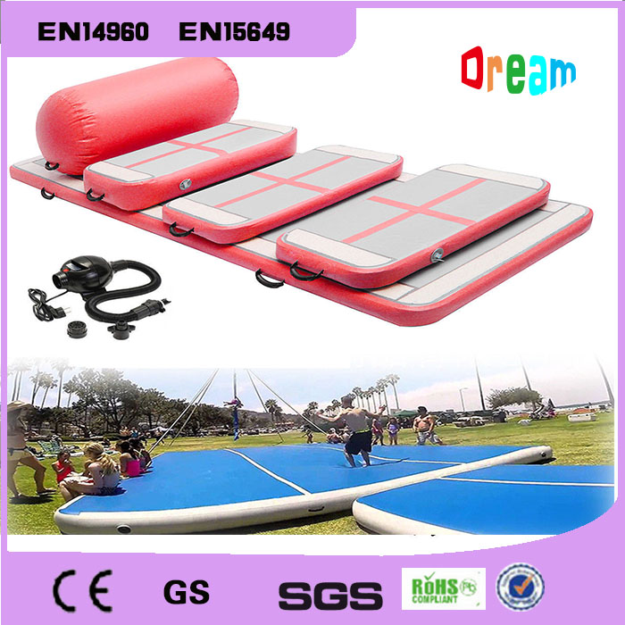 Free Shipping Guangzhou Factory 6 Pieces Inflatable Air Tumble Track Inflatable Gym Mat Inflatable Air Track Free One Pump free shipping inflatable air track gym mat tumble track inflatable air track