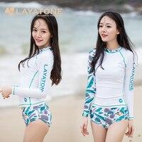 Layatone 수영복 서핑 여성 스포츠 정장 요가 셔츠 래쉬