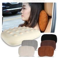 Comfortable Car Seat Neck Protect Pillow Soft Suede Memory Cotton Headrest for BMW Mini Cooper Benz Audi Toyota Honda Suzuki