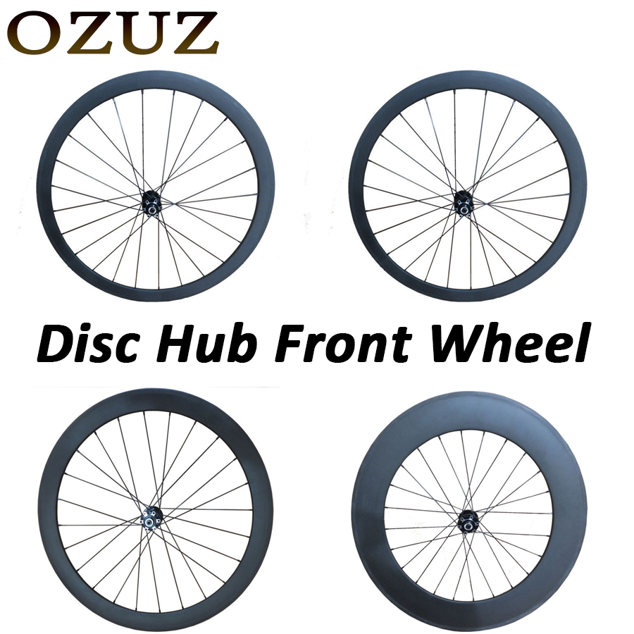 Disc Hub Carbon Wheels 700C 24mm 38mm 50mm 60mm 88mm Clincher Tubular Road Bike Bicycle Light Racing Only Front Cyclocross Wheel front hub city road lion disc brakes front wheel tire rims