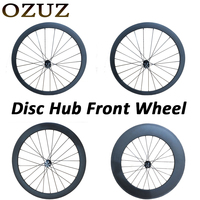 OZUZ disc brake 24mm 38mm 50mm 88mm depth carbon wheels 23mm width clincher tubular wheels 700c bicycle Only Front Wheel