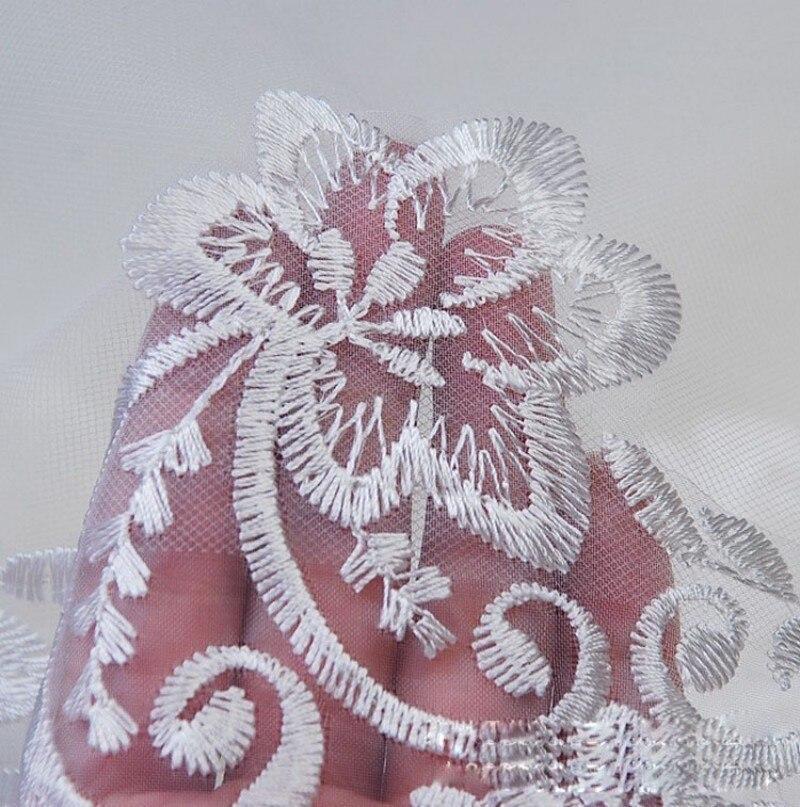 Готово к отправке один Слои расшитый кружевом из тюля с длинным шлейфом Длинные свадебные фаты для невест свадебные аксессуары