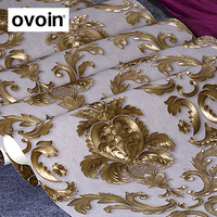 Luxury Glitter Gold Damask Vinyl Wallpaper Home Decoration Modern Designs Wall Paper Roll Living Room Bedroom