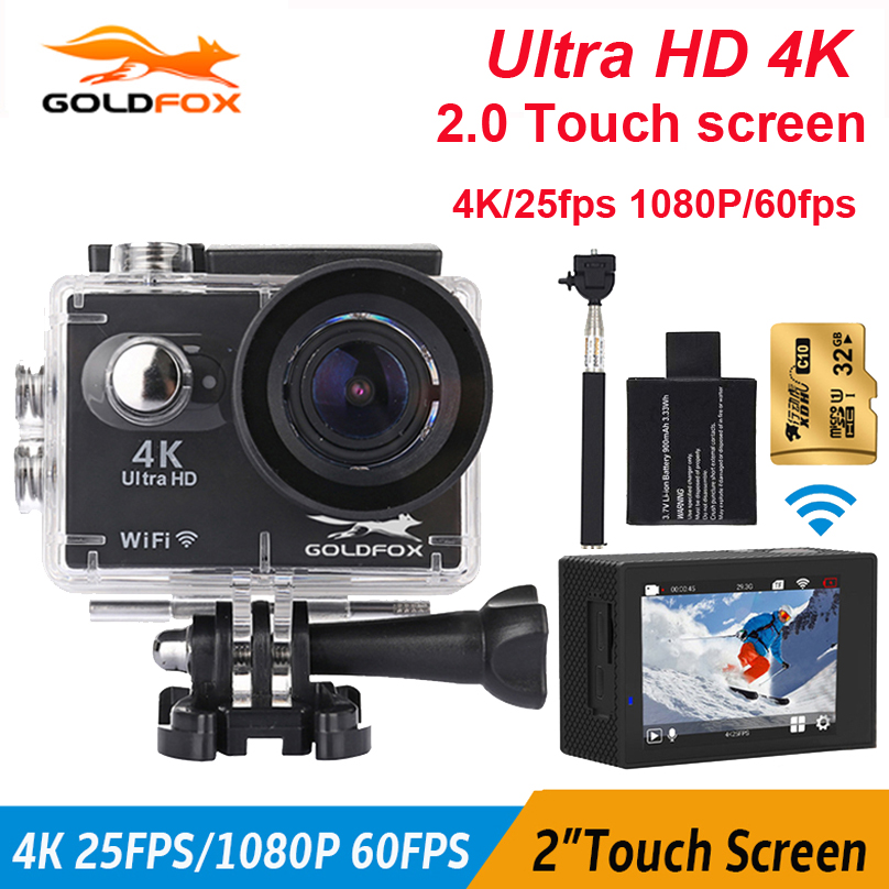 GOLDFOX S350 Touch Screen 4K Action Camera Allwinner V3 Wifi 4k 16MP Cam 30M go Waterproof pro extreme Camera Sports Mini Camera v3 4k wifi sports camera 16mp