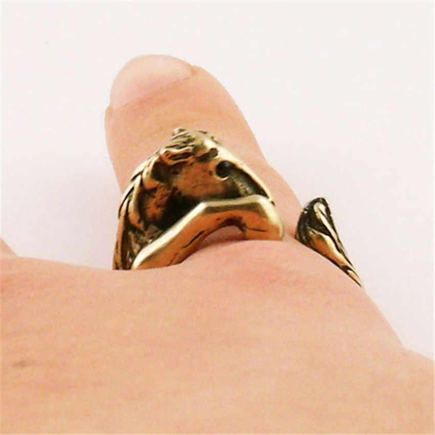 CHENGXUN Bronco cheval Animal écharpe englobante-pour les femmes Chunky bohême Vintage bijoux main accessoires pour fête de mariage