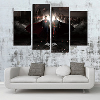 FOUR PC NO FRAME Captain Planet And The Planeteer Oil Painting Printed Oil Painting On Canvas