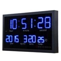 Dot matrix led digital large wall clock Living room modern decoration electronic led calendar clock Home thermometer clock