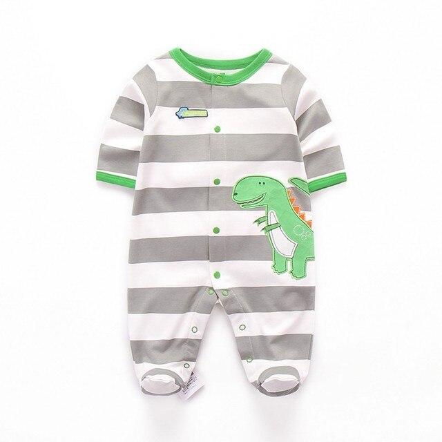 bcfa501f3 Newborn Baby Rompers Stripe Long Sleeve Sleepsuit Baby Boy Romper ...